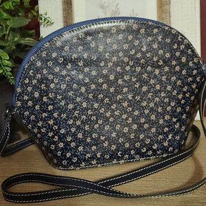 Patricia Nash Denim Daisies Crossbody